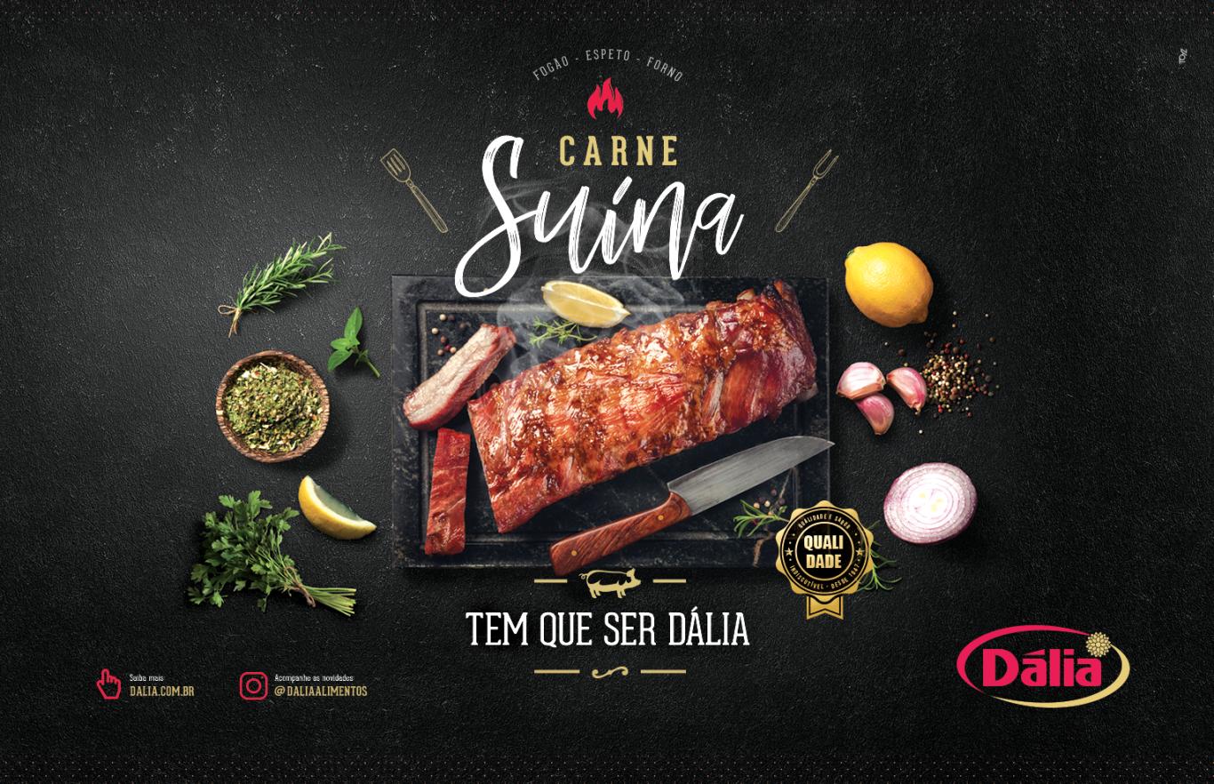 Dalia anuncio ZH zero hora toyz propaganda agencia publicidade design melhor carne de porco suino garantia
