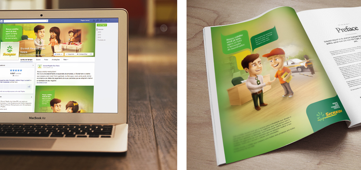 agencia toyz sicredi propaganda publicidade marketing post facebook revista anuncio credito facil