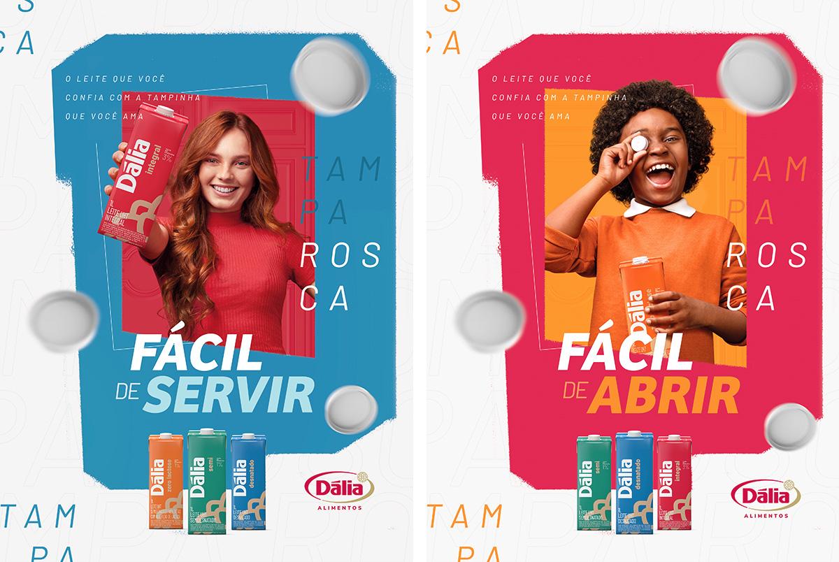 anuncio campanha digital dalia publicidade marketing leite caixinha tampa rosca toyz propaganda agencia design