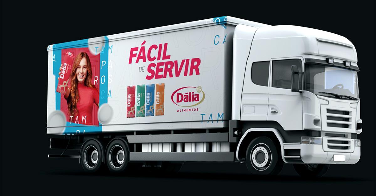 c caminhão dália campanha leite design agencia toyz propaganda divulgacao tampa rosca tampinha facil de abrir