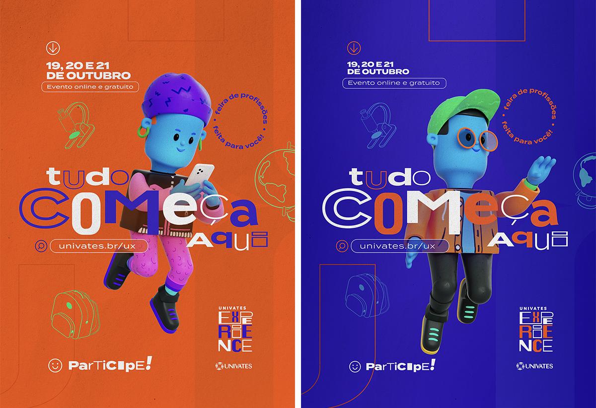 cartazes univates toyz propaganda agencia publicidade mkt design campanha experience toyz