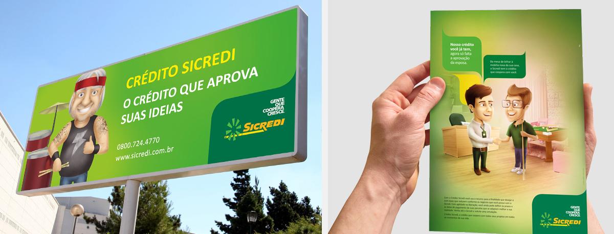 outdoor flyer sicredi publicidade campanha credito toyz ilutracao 3d propaganda publicidade