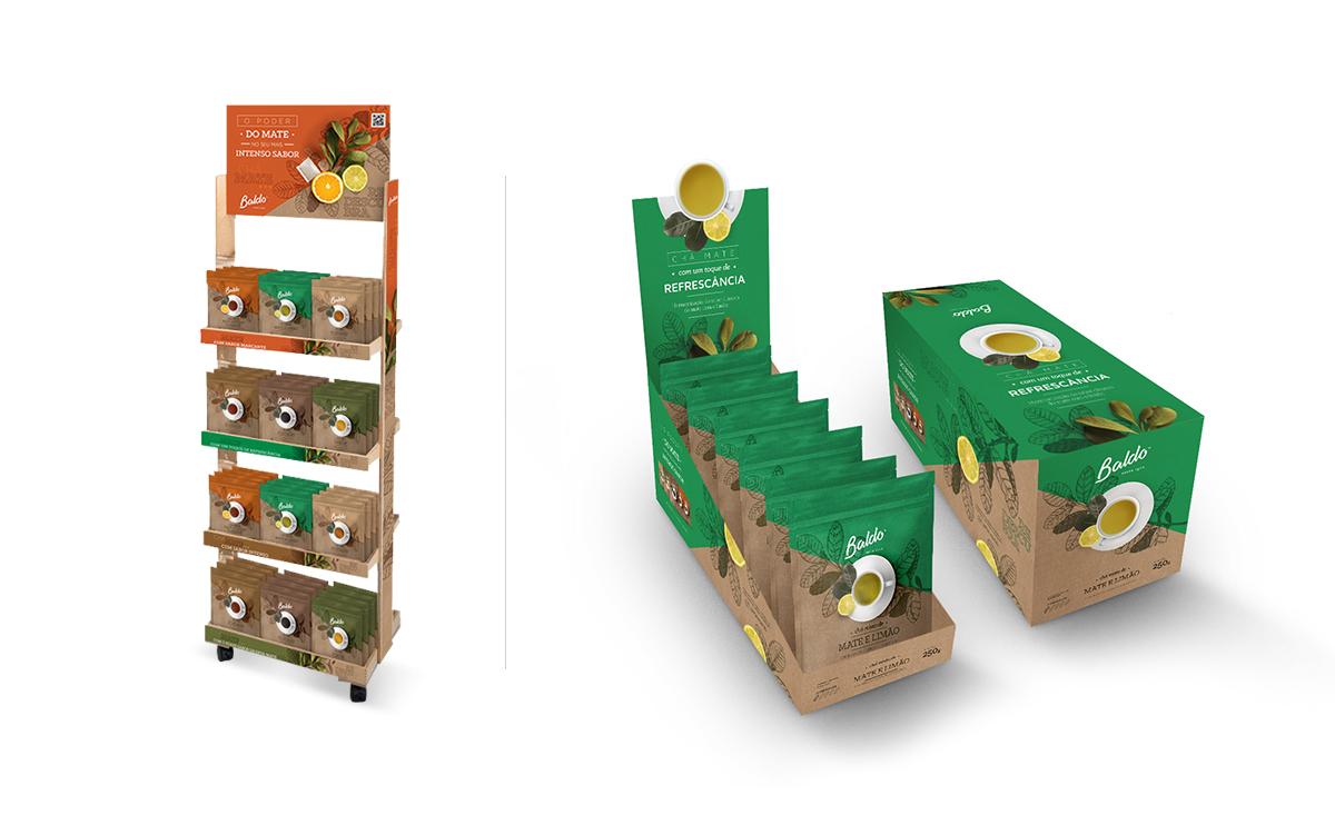 pdv ponto de venda cha baldo design publicidade toyz propaganda marketing gondola packs embalagem disposicao