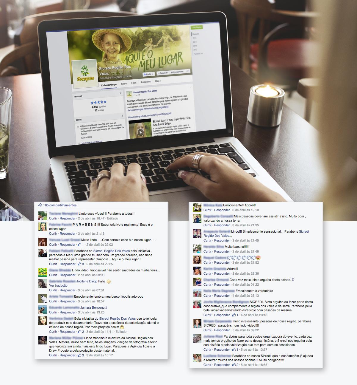 toyz redes sociais sicredi agencia toyz campanha publicidade comentarios rs